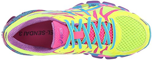 Yellow Gel ASICS Shoe Turquoise Pink Womens 3 Running Sendai Hot Flash 0OBqnwUqxZ