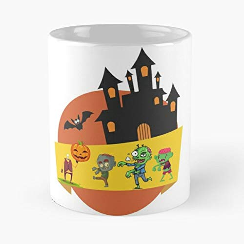 Halloween Time Spirit Monsters - 11 Oz Coffee Mugs Unique Ceramic Novelty Cup, The Best Gift For Halloween.]()