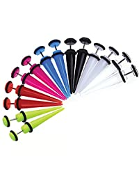 Lot of 14 Pieces Multi-Color Fake Tapers Kit 16 Gauge