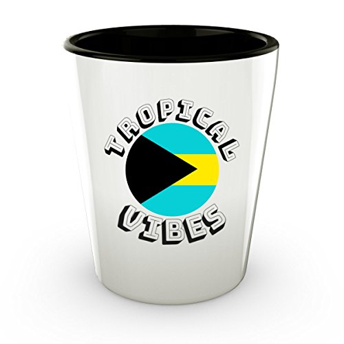 Bahamas Flag Shot Glass Tropical Vibes - Cute Gift - Perfect Gift & Souvenir For Birthday, Christmass, Men, Women,