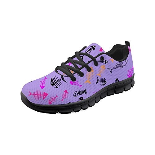 Fish Shoes Women's CHAQLIN Running Sport Pattern Fashion Sneaker Fish 3 qpwZvE8