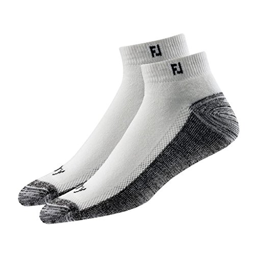 Men's Footjoy ProDry Sport Socks White Size Socks Large 7-12 (2 Pair)