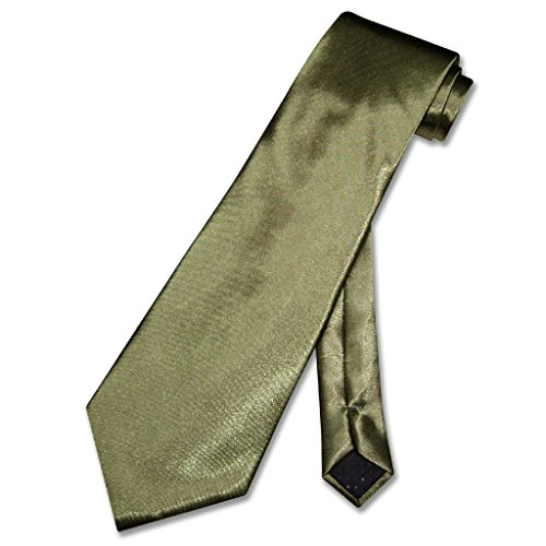 Covona NeckTie Solid OLIVE GREEN Color Men's Neck Tie (Tie Covona)