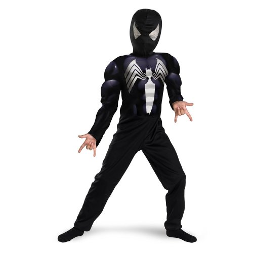 Spider Man 3 Muscle Costumes (Black Suited Spiderman Muscle - Size: Child S(4-6))