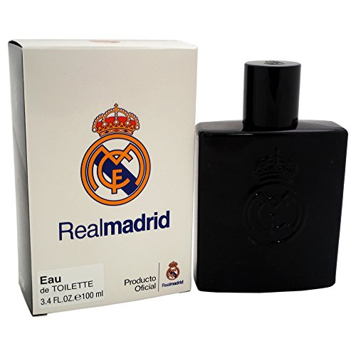 Real Madrid Black EDT Spray for Men, 3.4 Ounce ()
