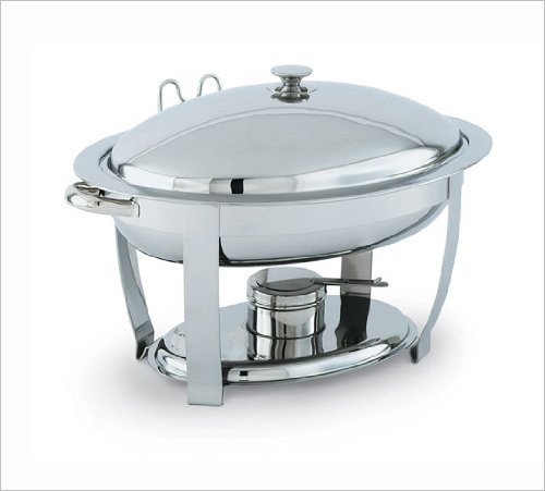 Vollrath 46501 Orion Small Oval Mirror Finish 4 Quart Lift-Off Chafer