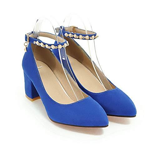 5 EU 1TO9 Compensées MMS06232 Inconnu Femme Sandales Bleu 36 Bleu 81RTTq