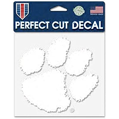 WinCraft NCAA Clemson University Tigers 6 x 6 inch White Decal : Sports & Outdoors