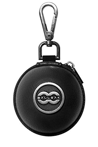 - Ballsak Pro - Silver/Black - Clip-on Cue Ball Case, Cue Ball Bag for Attaching Cue Balls, Pool Balls, Billiard Balls, Training Balls to Your Cue Stick Bag EXTRA STRONG STRAP DESIGN!