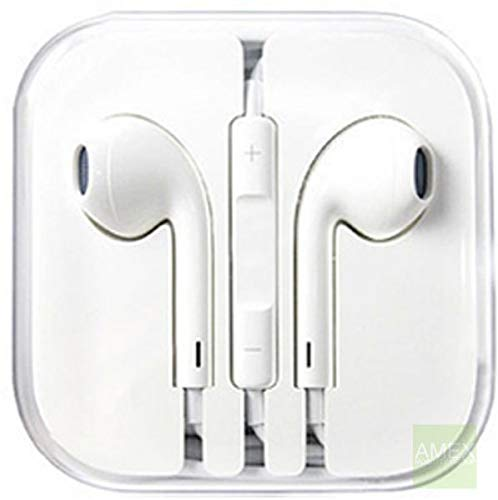 White Headsets Handfree for iPhone 5 and other SAMSUNG iPhone's and Mobile Phones with Mic