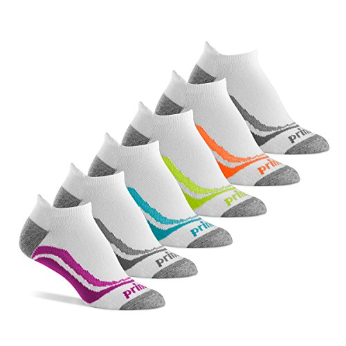 Prince Women's Tab Performance Athletic Socks for Running, Tennis, and Casual Use (Pack of 6) - White, Womens Size 6-10 (Prince Socks)