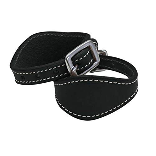 Saddles & Such Black Leather Stirrup Hobble Straps from