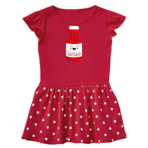 inktastic - Ketchup Costume Toddler Dress 3T Red with Polka Dots -