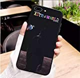 Travis Scott Phone Cases Astroworld Sicko Mode for Apple iPhone MAX XR XS X10 5 6 7 8Plus Soft Silicone Black Cover (iPhone 7-8 Plus)