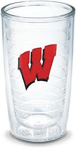 Tervis Wisconsin University Emblem Individual Tumbler, 16 oz, Clear