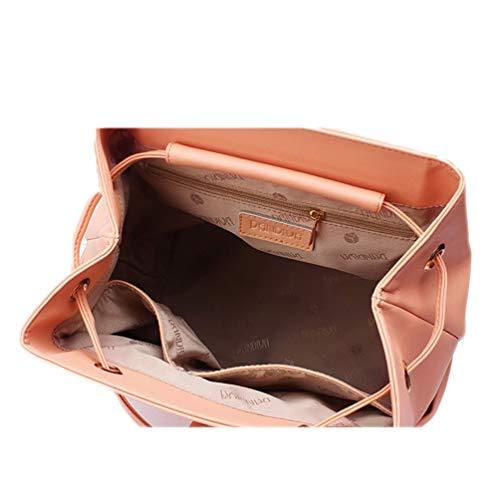 Pelle Con Viaggi Zaino Donna A Shopping Per Lavoro Da Fs Pink Ragazza Donna wg pink Coulisse Secchiello E In Borsa nW0zZ0txw