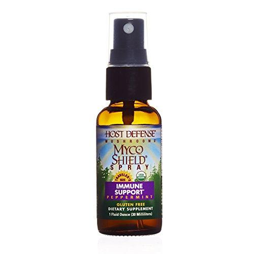 Host Defense - MycoShield Spray, Multi Mushroom Support for Immune Response, Peppermint, 71 Servings (1 oz)