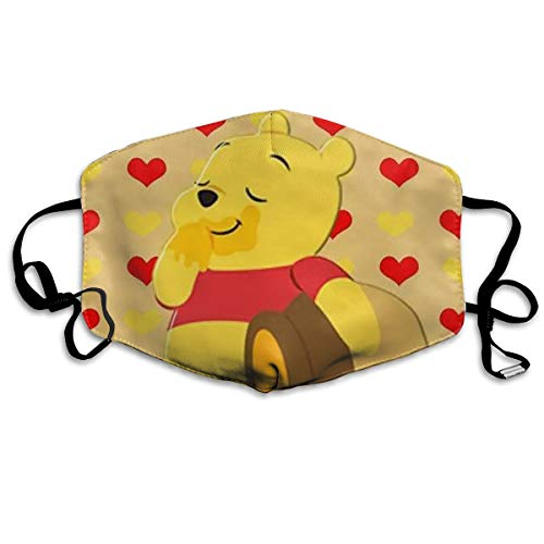 CFECUP Mouth Mask Pooh Bear Bears Anti-dust Polyester Face Mask Unisex -