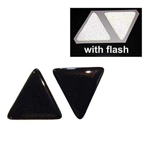 Cushystore Tri Angle Shaped Domed 3M Scotchlite 580 High Reflective Decal Decals Black to White Flash Night Gloss 3D Rear Motorcycle Sticker Reflector Bike Bicycle Car Helmet Trunk Tailgate Safety