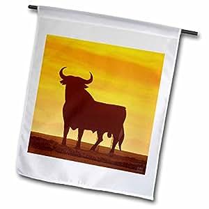 Kike Calvo Spain - Osborne Bull Sign, Spanish National Momunent, few left on the Spanish roadsides - 18 x 27 inch Garden Flag (fl_10678_2)