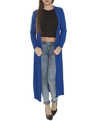 LUNGO MY unita LUNGO Royal CARDIGAN FASHIONS DRITTO Blue LOVE tinta Yd466q