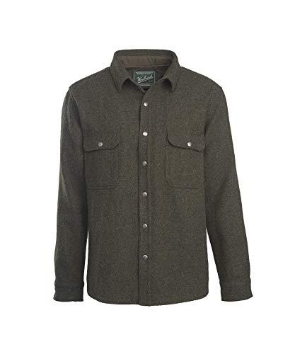 Woolrich Men's Wool Alaskan Shirt, Olive, Large