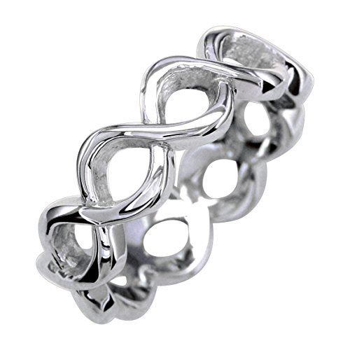 Infinity Ring Couple in 14K White Gold size 13 by Sziro Infinity Rings
