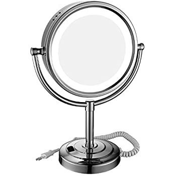 Amazon Com Gurun Tabletop Led Lighted Makeup Mirror With