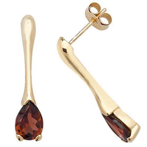 Boucles d'oreilles clous en or 9ct Grenat