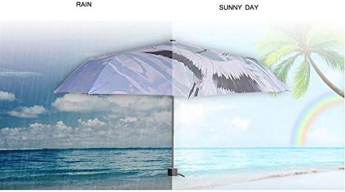 KYX-GAOMOUREN Ink Landscape Illustration Umbrella Umbrella Umbrella Baihe Wonderland Tri-Fold Umbrella Chinese Style Personality