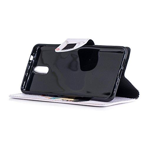 BONROY 1 3 Flip Nokia 2018 Coque Housse Cuir PU xBZgqxw