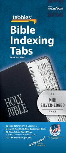 Price comparison product image Bible Tab: Clear Tab with Silver Center Strip & Black Lettering