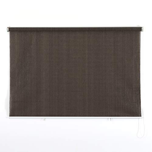 PHI VILLA Outdoor Patio Sun Shade Roller Shade 8ft by 8ft Coffee (Shade Rollup Outdoor)