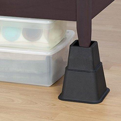 pie de elefante c/ónicos para camas y sillas conos de elevaci/ón de muebles pies hasta 68x68 mm 8 piezas Design61 Alza de muebles de alza de camas 3 alturas diferentes