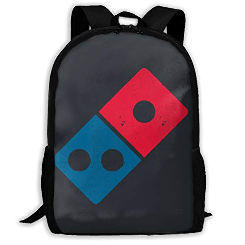 NO4LRM Adult Shoulder Bag Dominos Pizza Logo Multipurpose 3D Printing Casual Backpack College Bags for Travel Camping Hiking Outdoor Sports Men Women