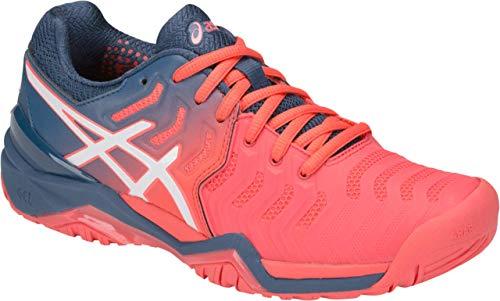ASICS Gel-Resolution 7 Women's Tennis Shoe, Papaya/White, 9.5 B US