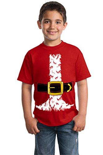 T-shirt Christmas Santa (Santa Claus Costume | Jumbo Print Novelty Christmas Holiday Humor Youth)