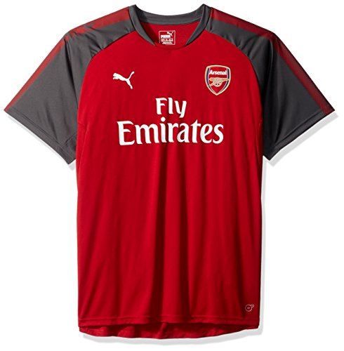 PUMA Men's Arsenal FC Training Jersey With Sponsor, Chili Pepper/Dark Shadow, Large