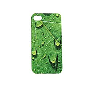Green Leaf Plastic Snap on Case Cover Compatible with Apple iPhone 4 and 4s
