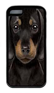 TYHde iPhone 5/5s Case, iPhone 5/5s Cases -Dachshund Puppy TPU Silicone Rubber Case Cover for iPhone 5/5s Black ending