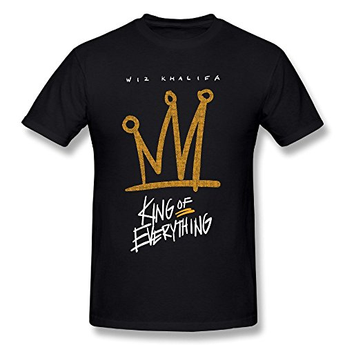 LOV-Tshirts Mens Wiz Khalifa - King of Everything Tshirts. (Wiz Khalifa Ft Snoop Dogg French Inhale)