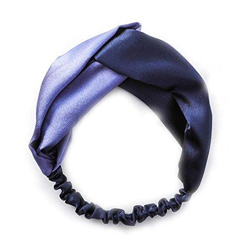Adeshop Head Contraste Mujeres de Color Nuevo 1 unids Seda Sat Estilo Headband de aXq41rFawy