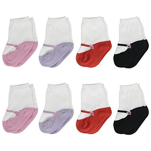 - Colorfox Baby Girls Socks Toddler Mary Jane Sneaker Walking Booties 8 Pairs 6-12 Months Socks