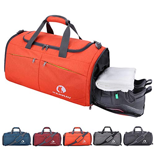 4d091b09a Canway Sports Gym Bag, Travel Duffel bag with Wet Pocket & Shoes  Compartment for men women, 45L, Lightweight