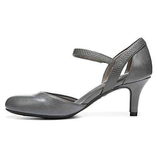 Lifestride Womens Pearl Dress Pump Grigio Sintetico