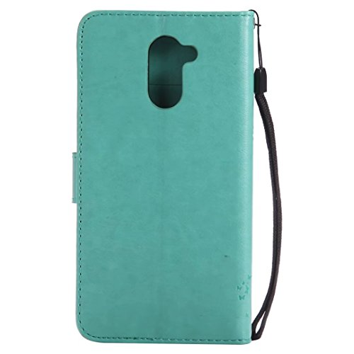 Huawei Y7móvil, cowx funda de piel sintética para Huawei Y7funda gato algodón verde