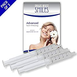 Bright White Smiles Teeth Whitening Gel Syringe Refill Pack, 44% Carbamide Peroxide, 10ml Syringes (3 XL 10cc (30cc total) 44% Carbamide Peroxide)