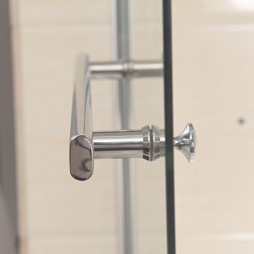 Mecor bathtub shower door hinged frameless 1 4 clear for Door 55 reviews