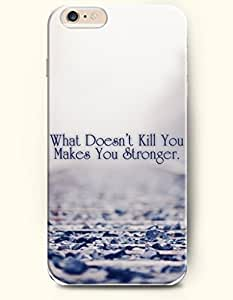 iPhone 6 Case,OOFIT iPhone 6 (4.7) Hard Case **NEW** Case with the Design of What Doesn't Kill You Makes You Stronger - ECO-Friendly Packaging - Case for Apple iPhone iPhone 6 (4.7) (2014) Verizon, AT&T Sprint, T-mobile