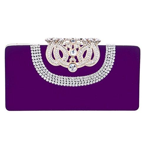 ZYXCC Luxury Diamond Banquet Bags Bags Bags Party Evening Ladies Purple SHISHANG Evening Fashion 4Bxf6wTq